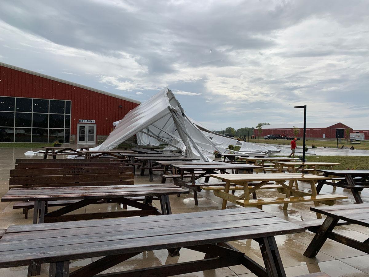 Fairgrounds Experiences Storm Damage